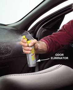 Interior Car Cleaning - Article The Family Handyman. One spray from Odor Gun and even cigarette smell is gone!