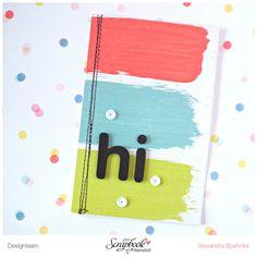 Karte Hi - Scrapbook Werkstatt Juli Kit 2015 - designed by Alexandra Boehnke (Tandi-Works)