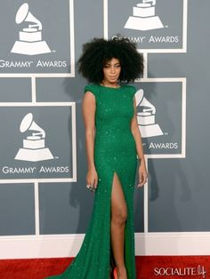 Singer Solange Knowles arrives at the 55th Annual   GRAMMY Awards at Staples Center on February 10, 2013 in Los Angeles, California. (Photo by Jason Merritt/Getty Images)