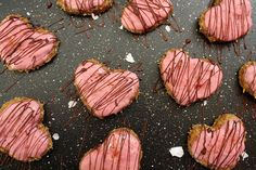 Strawberry Coconut Heart Cookies