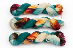 shoreditch hand dyed yarn sock yarn fingering by KnitCosmicStrings