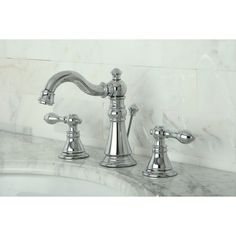 Shop Kingston Brass American Classic Chrome 2-Handle Widespread Bathroom Sink Faucet (Drain Included) at Lowes.com