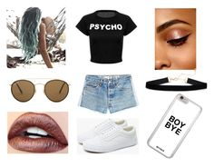 """I Do What I Want"" by x-emily-herondale-x ❤ liked on Polyvore featuring Vans, Ray-Ban and RE/DONE"