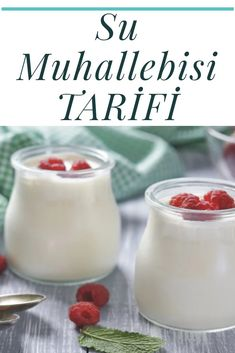 Turkish Recipes, Ethnic Recipes, Turkish Delight, Aloe, Glass Of Milk, Panna Cotta, Deserts, Pudding, Cream