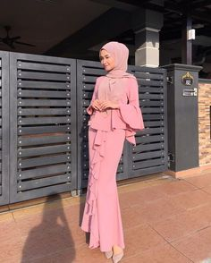 Slit dress: Likes, 15 Comments - Shop at . Muslim Fashion, Modest Fashion, Hijab Fashion, Fashion Dresses, Hijab Prom Dress, Dress Outfits, Hijab Collection, Batik Fashion, Hijab Style