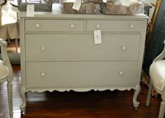 Paint hutch this color? (Paris Gray) cute, need like this something for linens.