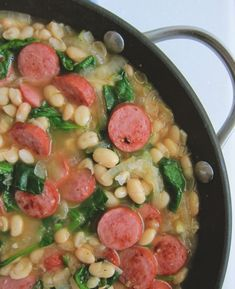 One Skillet White Bean and Sausage Stew