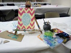 Paint Party in your home. Art Class and Canvas painting. Chevron Monogram, Easy Paintings, Paint Party, Perfect Party, Color Show, Create Your Own, Projects To Try, Parties, Friends