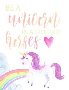 Fun for a rock: Be a Flamingo and a Unicorn in a world filled with horses and pigeons! Stand out, be YOU! Be Magical! Be sure and grab your FREE Printables!