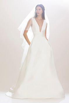 Brides.com: Carolina Herrera - Fall 2016 Wedding dress by Carolina HerreraPhoto: Courtesy of Carolina Herrera