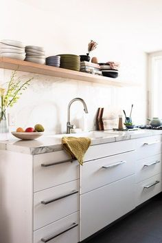 Before you roll up your sleeves and get down to the business of cleaning your cabinets, make sure you're prepared with the following supplies that'll help you tackle the job. #hunkerhome #kitchencabinets #cabinetcleaningtips #kitchencabinettips
