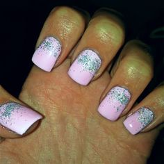 Pink holiday nails