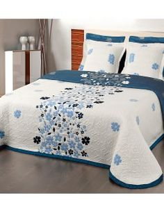 Colchas Modernas De Diseño Impresionante Colcha Para Cama Reversible Tejido Jacquard Morgan Venca – Home Diseños & Decoración Ideas Clean Bedroom, Blue Bedroom, Modern Bedroom, Bedroom Comforter Sets, Quilt Bedding, Bed Covers, Duvet Cover Sets, Bed Cover Design, Designer Bed Sheets
