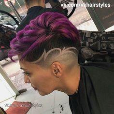 Edgy Short Hair, Edgy Hair, Short Hair Styles, Short Hair Cuts, Short Hair Designs, Shaved Hair Designs, Half Shaved Hair, Shaved Hair Cuts, Undercut Hair Designs