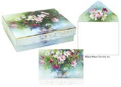 Carol Wilson Stationery Wildflowers Jewel Box Notes
