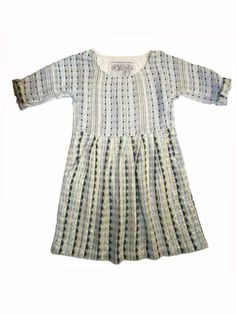Ace&Jig pleated dress natural pin dot