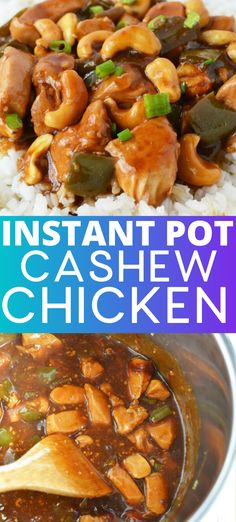 Easy Instant Pot Cashew Chicken recipe This healthy Instant Pot cashew chicken tastes like your favorite Chinese takeout made at home in only 30 minutes cashewchicken instantpot chickenrecipes instapotrecipes instapot chicken takeout Meat Recipes, Crockpot Recipes, Chicken Recipes, Cooking Recipes, Healthy Recipes, Crockpot Meat, Cooking Chef, Cooking Videos, Best Instant Pot Recipe