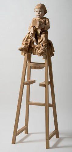 Gegantó, 2015. 190 x 55'5 x 55 cm. Faig i freixe Haya y fresno Beechwood and ashwood