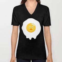 Kentucky Fried Egg V-neck T-shirt by simon oxley idokungfoo.com - $24.00