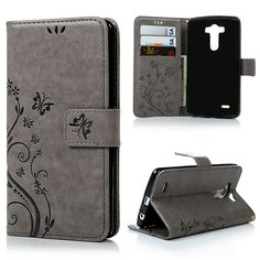 Fashion Cases For LG G3 D855 D850 D851 Stand Wallet Flip PU Leather Case Cover Retro Flower Printing Housing for LG G3 Card Slot