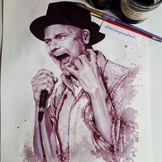 WANT A FREE FEATURE ?   CLICK LINK IN MY PROFILE !!!    Tag  #LADYTEREZIE   Repost from @melissaproudlock   Painting complete! Tragically Hip's front man #gorddownie painted with @stoneyridgewine 2015 Fully Completely Grand Reserve wine. A HUGE thank you to @mikes_media for capturing this moment (referenced his amazing photo to complete this piece)  Giclee Replicas available! Visit my etsy.com store (search: melissaprouslock) or access through my website in my bio  #cabernetsauvignon #merlot…