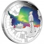 Australian Antarctic Territory Series – Aurora Australis 2013 One Ounce Silver Proof Coin | australiasilver.com