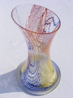 Bohemian glass vase Art Of Glass, Glass Artwork, Cut Glass, Bohemia Glass, Glass Vessel, Bottle Vase, Glass Paperweights, Porcelain Ceramics, Vases Decor