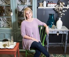 Don't expect to find any tired, old-fashioned furnishings at Ozark's Little Bluebird Vintage Boutique.