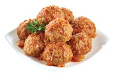 Oven-Roasted Porcupine Meatballs in Tomato Sauce Made with Ground Meat and Rice from #YummyMarket