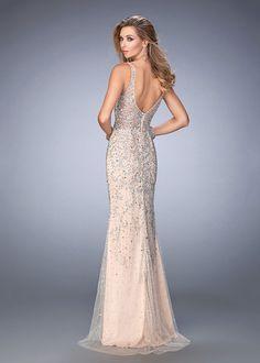 Gigi 22644 Shimmering Beaded   Sequined V-Neck Prom Gown Long Open Back  Dress ddef96b047dc
