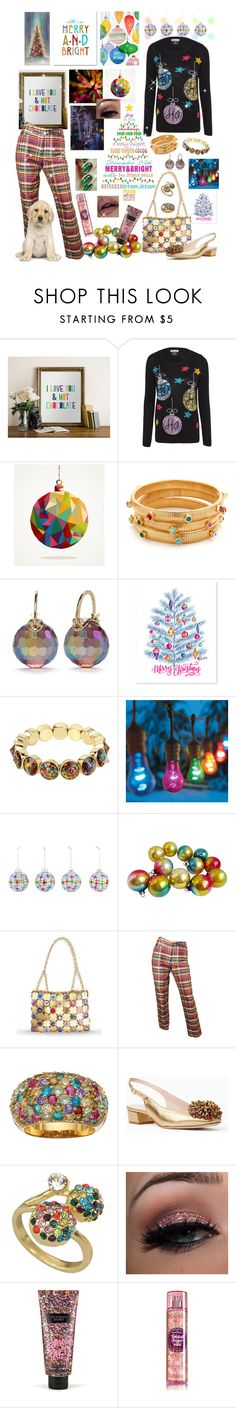 """Brightly Shining"" by krazyk8e ❤ liked on Polyvore featuring WALL, Gas Bijoux, Kate Spade, Betsey Johnson, Improvements, SOPHIE MILLER and Victoria's Secret"