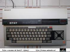 MSX Sony Hit Bit HB-55p, Fotos y propietario David F. Gisbert (Tromax) Usuario informatico de Amiga, MSX, coleccionista de microordenadores y videoconsolas