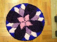 Obra de artesanía: Mandala violáceo Artesanos de la tierra