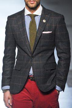 Michael Bastian A/W 13 detail #MichaelBastian #suit