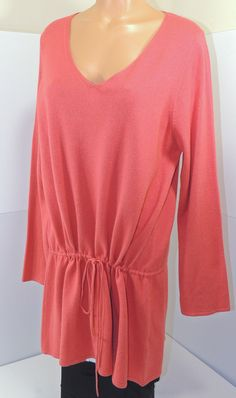Eileen Fisher Coral Long Sleeve Silk Cashmere Drawstring Shift Dress Sz XL  http://www.ebay.com/itm/Eileen-Fisher-Coral-Long-Sleeve-Silk-Cashmere-Drawstring-Shift-Dress-Sz-XL-670-/321900379994  #eileenfisher