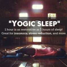 Yogic sleep that's as restorative as 3 hours of sleep. Definitely going to try this :)