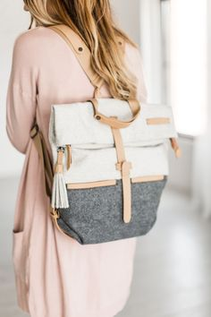 Easily the cutest backpack a girl could own. High quality and worth the splurge. The Amelia is a backpack designed with fashion, style and wear-ability in mind. Its fold over zippered flap ensures the