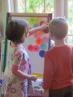Magnetic Play Dough Lids | Teach Preschool