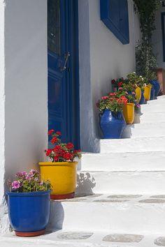 Mykonos Colours by McGarva Photography Mykonos Island, Mykonos Greece, Santorini, Beautiful Islands, Beautiful World, Greece Tours, Yellow Doors, Delphinium, Southern Homes