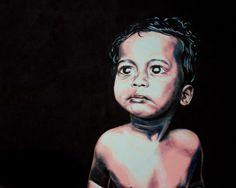 Bengali child 2014. 200 X 150 CM