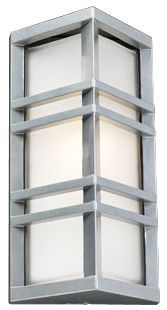 "Trestle Architectural Silver 13 1/4"" High Outdoor Wall Ligh"