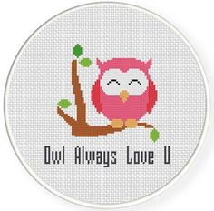 FREE for Jan 29th 2015 Only - Owl Always Love You Cross Stitch Pattern