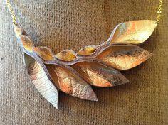 Petal Collection Gold Metallic Lame Leather Petal by HaKNiK, $25.00