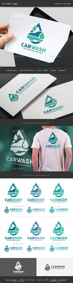 Auto Car Wash Logo — Vector EPS #creative #water • Available here → https://graphicriver.net/item/auto-car-wash-logo/15475338?ref=pxcr