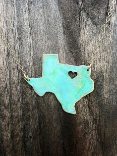 You put a heart where your hometown is....very cute idea