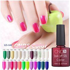 La CNDS 156 Color 10 ML Gel Barnices UV Recubrimiento de Esmalte de Uñas de larga duración Soak-off Gel UV LED Del Arte Del Clavo Esmalte de Uñas de Gel laca