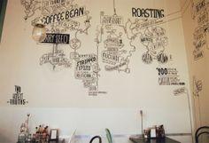 Cafe wall art. Shaky Isles. www.twohonesttruths.wordpress.com