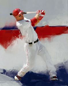 An Artistic Look at Major League Baseball - Mike Trout -  Photo: Art by Denis Gonchar