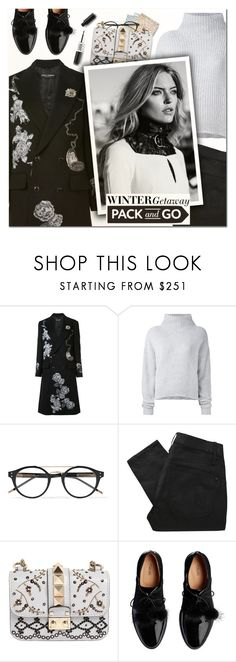 """""""Pack and Go: Winter Getaway"""" by vampirella24 ❤ liked on Polyvore featuring Dolce&Gabbana, Le Kasha, Bottega Veneta, Marc by Marc Jacobs and Valentino"""