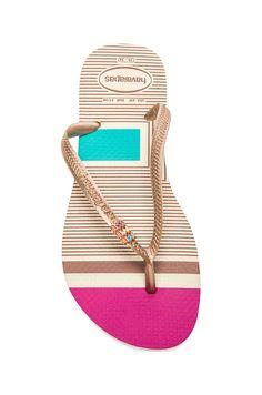 3c955462831141 Havaianas Slim Tribal Flip Flop in Beige Tribal Shoes
